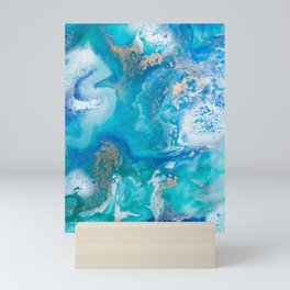 Into the Blue Lagoon Mini Art Print