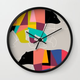 Twin Bears Wall Clock