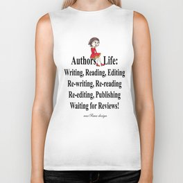 Authors Life by Lisy Biker Tank