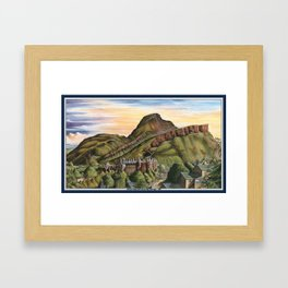 Arthurs Seat and Holyrood Palace 1996 Framed Art Print