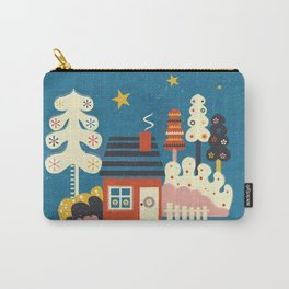 Festive Winter Hut Carry-All Pouch
