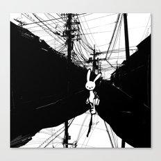 minima - beta bunny / noir Canvas Print