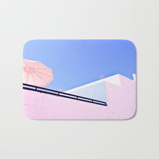 Blue and Pink Bath Mat
