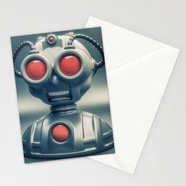 Weird robot Stationery Cards
