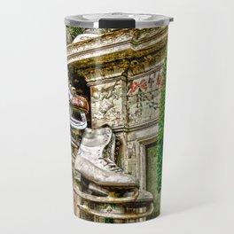 Antique Fireplace Decor Travel Mug