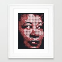 fitzgerald Framed Art Prints featuring Ella Fitzgerald by Andy Carey