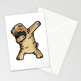 Funny Dabbing Shar Pei Dog Dab Dance Stationery Cards