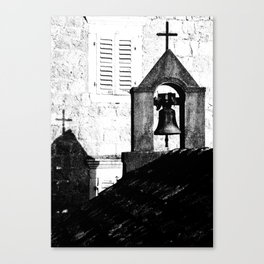 Church in Rose / Montenegro Canvas Print