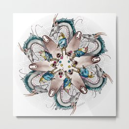 Spirited Away Mandala Metal Print