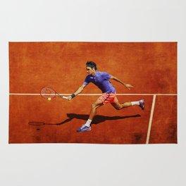 Roger Federer Tennis Chip Return Rug