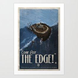 Grim Fandango Vintage Travel Poster - The Edge Art Print