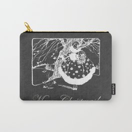 Merry Retro Christmas Glam Chalkboard Carry-All Pouch