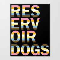 reservoir dogs Canvas Prints featuring Reservoir Dogs by mgn.russ