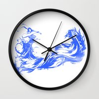 final fantasy Wall Clocks featuring FINAL FANTASY X  by DrakenStuff+