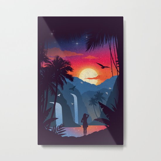 Cascades Metal Print