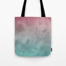 Pink Blue Poppies Tote Bag