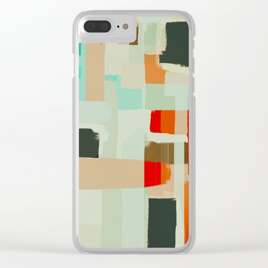 Abstract Painting No. 13 Clear iPhone Case