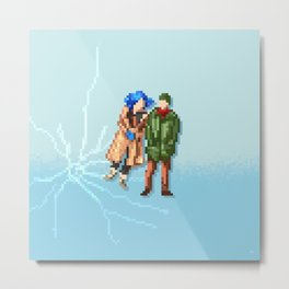 Eternal Sunshine of the Spotless Mind - Pixel Art - Square Metal Print