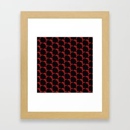 Red with black spots Framed Art Print
