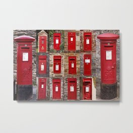 Postboxes of Old England Metal Print