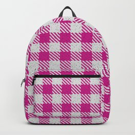 Medium Violet Red Buffalo Plaid Backpack