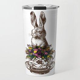 Rabbit in a Teacup Travel Mug