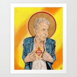 St. Anthony Bourdain Art Print
