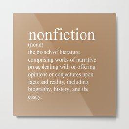 Nonfiction Definition Metal Print