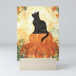 Harvest Kitty Mini Art Print