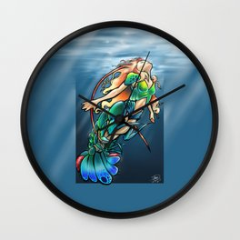 Mantis Shrimp Mermaid Wall Clock