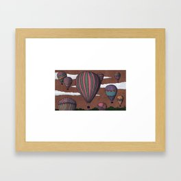 balloon party Framed Art Print