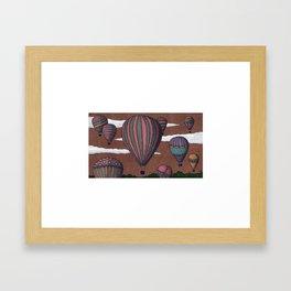 balloon party Framed Art Print