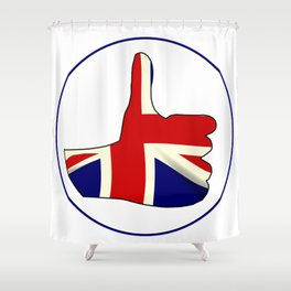 Thumbs Up England Shower Curtain