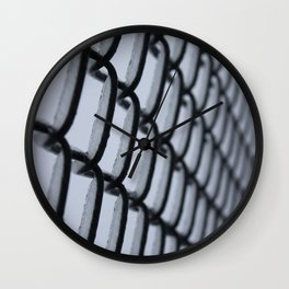 Ice Covered Chain Linked Fence Wall Clock