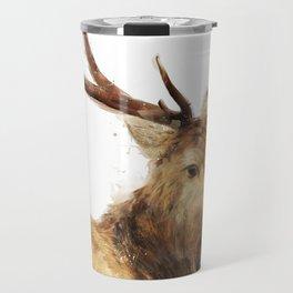 Winter Red Deer Travel Mug