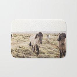 Horse Photograph in Color Bath Mat