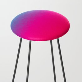 Blue purple and pink ombre flames Counter Stool