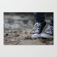 converse Canvas Prints featuring Converse by AJ Calhoun