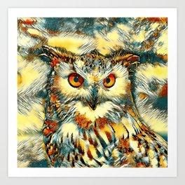 AnimalArt_Owl_20170912_by_JAMColorsSpecial Art Print