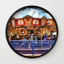 Carousel inside the Mall Wall Clock