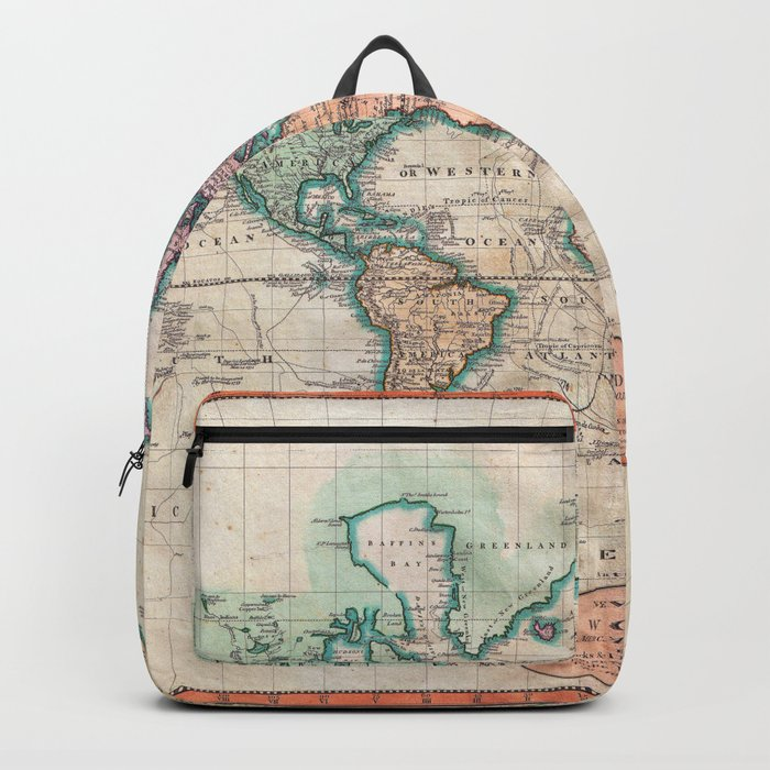 Vintage world map 1801 backpack by mapmaker society6 vintage world map 1801 backpack gumiabroncs Gallery