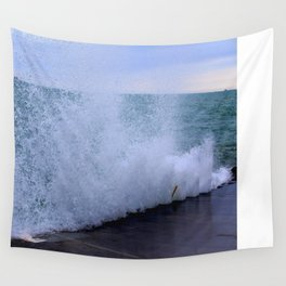 Lake Michigan Natural Fountains #1 (Chicago Waves Collection) Wall Tapestry