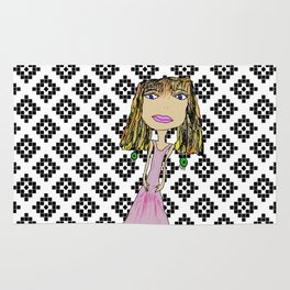 Pink Lady from Casablanca Rug