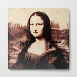 Mona Lisa Vintage Metal Print