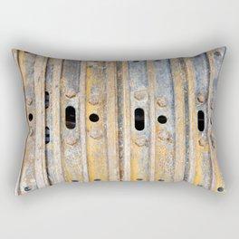 Rusty excavator caterpillar Rectangular Pillow