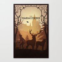 marauders Canvas Prints featuring The Marauders by sevillaseas