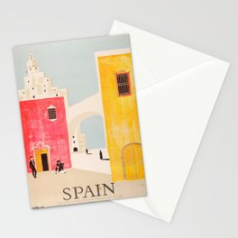 Spain Vintage Travel Poster Mid Century Minimalist Art Stationery Cards