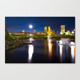 Tulsa Oklahoma City Park Skyline at Dawn Canvas Print