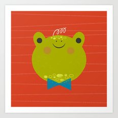Dressy Froggy Art Print