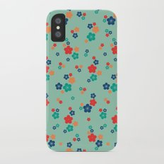 blossom ditsy in grayed jade iPhone X Slim Case
